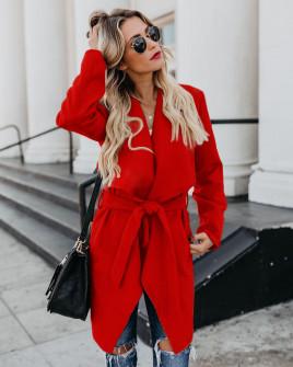Γυναικείο παλτό 1220 κόκκινο