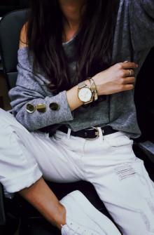 Γυναικεία μπλούζα με κουμπιά στο μανίκι 3735 σκούρο γκρι
