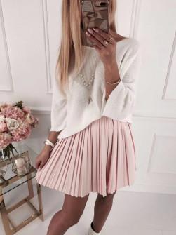 Γυναικεία πλεκτή μπλούζα 4440 άσπρη