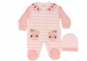 Βρεφική ολόσωμη φόρμα 5051484 ροζ ανοιχτό