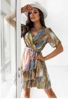 Γυναικείο εντυπωσιακό φόρεμα 21175 καφέ