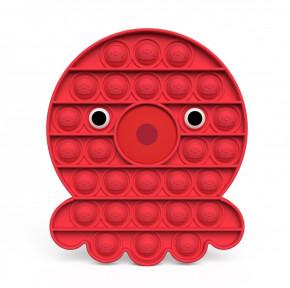 Αγχολυτικό παιχνίδι fidget pop it POP13706 χταπόδι κόκκινο