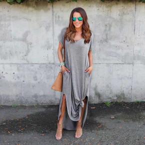 Γυναικείο φόρεμα 7503 γκρι