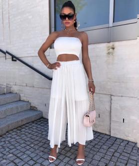 Γυναικείο παντελόνι σολέιγ 34456 άσπρο