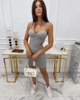 Γυναικείο εφαρμοστό φόρεμα 3110 γκρι