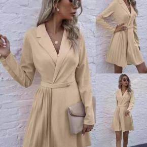 Γυναικείο εντυπωσιακό φόρεμα 8064 μπεζ