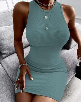 Γυναικείο εφαρμοστό φόρεμα 2851 μέντα