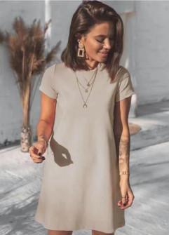 Γυναικείο μπλουζοφόρεμα 5166 μπεζ
