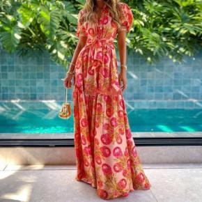 Γυναικείο εντυπωσιακό μακρύ φόρεμα 21599