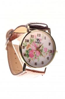 Γυναικείο ρολόι  NS0020 καφέ