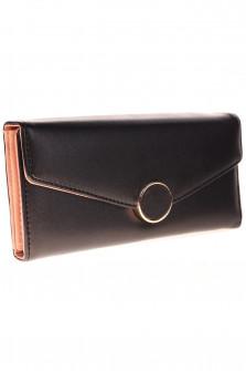 Γυναικείο πορτοφόλι R17012 μαύρο/ροζ