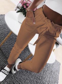 Γυναικείο παντελόνι 18069 καμηλό