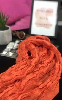 Γυναικείο φουλάρι 6262 πορτοκαλί
