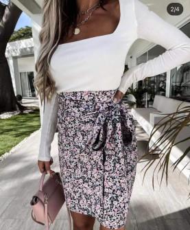Γυναικεία φούστα με φιόγκο 2123607