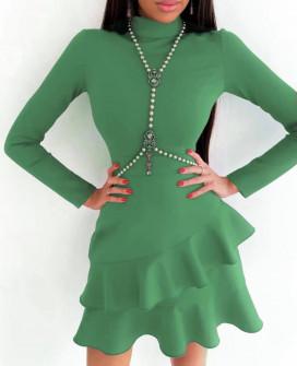 Γυναικείο κομψό φόρεμα 21655 πράσινο
