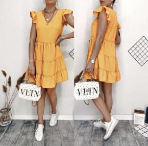 Γυναικείο φόρεμα πουά 2192 πορτοκαλί