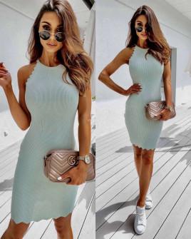 Γυναικείο εντυπωσιακό φόρεμα 3947 μέντα
