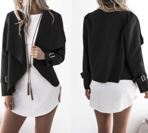 Γυναικείο σακάκι χωρίς φόδρα 5292 μαύρο