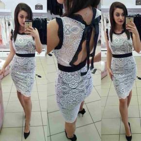 Γυναικείο φόρεμα δαντέλας 2733 άσπρο