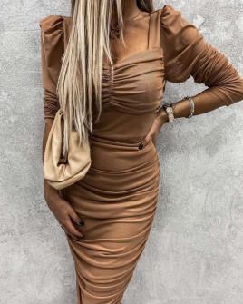 Γυναικείο φόρεμα 26991 μπεζ
