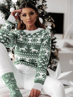 Χριστουγεννιάτικο πουλόβερ 1867 πράσινο