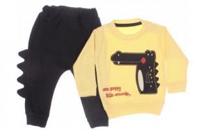 Βρεφικό σετ μπλούζα και παντελόνι 5051535 κίτρινο