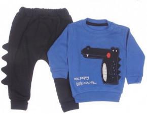 Βρεφικό σετ μπλούζα και παντελόνι 5051535 μπλε