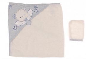 Βρεφική πετσέτα 50515167 γαλάζια