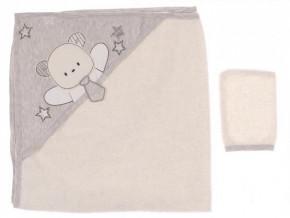 Βρεφική πετσέτα 50515167 γκρι