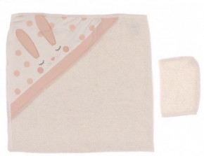 Βρεφική πετσέτα 5051478 ροδακινί