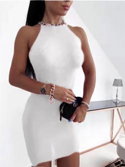 Γυναικείο ετυπωσιακό φόρεμα  2675 άσπρο