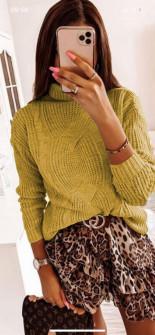 Γυναικείο πουλόβερ 0029 κίτρινο