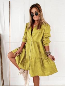Γυναικείο φόρεμα 20800 κίτρινο