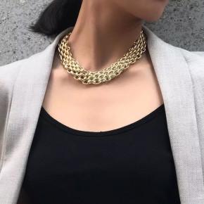 Γυναικείο εντυπωσιακό κολιέ SP2 χρυσαφί