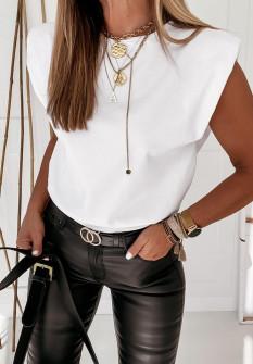 Γυναικείο αμάνικο μπλουζάκι 4370 άσπρο