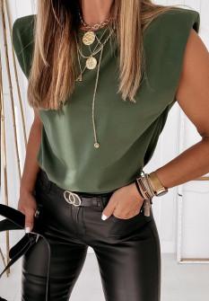 Γυναικείο αμάνικο μπλουζάκι 4370 πράσινο
