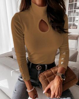 Γυναικεία μπλούζα 270501 καμηλό