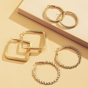 Γυναικείο σετ σκουλαρίκια 3τμχ. SP75 χρυσαφί