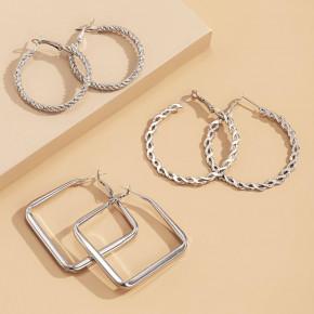Γυναικείο σετ σκουλαρίκια 3 ζευγάρια SP75