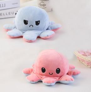 Παιδικό φλις παιχνίδι χταποδάκι DI13705 γαλάζιο/ροζ