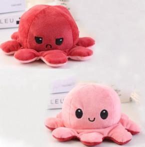 Παιδικό φλις παιχνίδι χταποδάκι DI13705 κόκκινο/ροζ