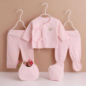 Βρεφικό σετ νεογέννητου 5τμχ. BF0601 ροζ