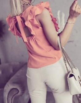 Γυναικεία μπλούζα με εντυπωσιακή πλάτη 5574 κοραλί