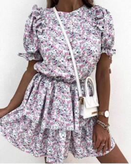 Γυναικείο φόρεμα με κορδόνια 2135401