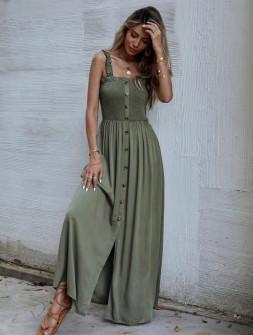 Γυναικείο φόρεμα 5811 χακί