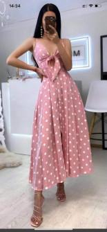 Γυναικείο φόρεμα 21485 ροζ