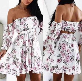Γυναικείο εντυπωσιακό φόρεμα 393804