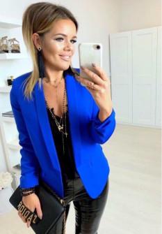 Γυναικείο σακάκι με φόδρα 5783 μπλε