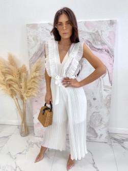 Γυναικεία ολόσωμη φόρμα σολέιγ 5741 άσπρη