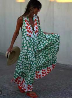 Γυναικείο μακρύ φόρεμα 55793